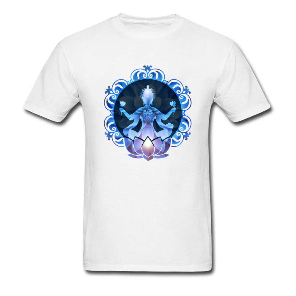 Men's Lotus Buddha Print T-Shirt 3