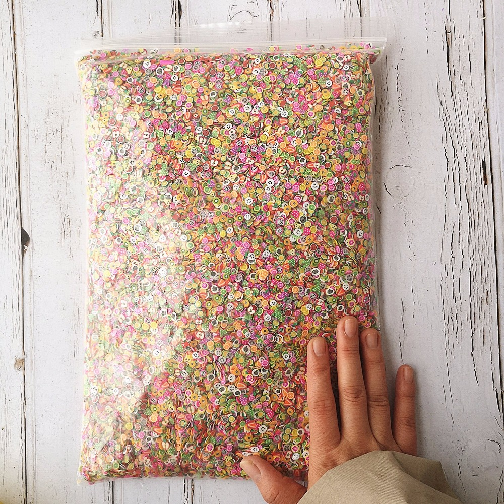 1KG 100000PCS Slime DIY Accessories Toys Mini Strawberry Fruit Slices Fluffy Clear Slime Supplies Gift Toy-in Artificial Fruits from Home & Garden    3