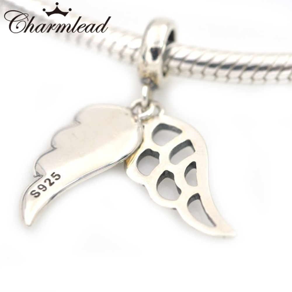 106b10490 Charmlead Angel Wing Charm Silver Pendant 925 Sterling Silver Charms Fits  Pandora Charms Bracelets DIY Beads Jewelry