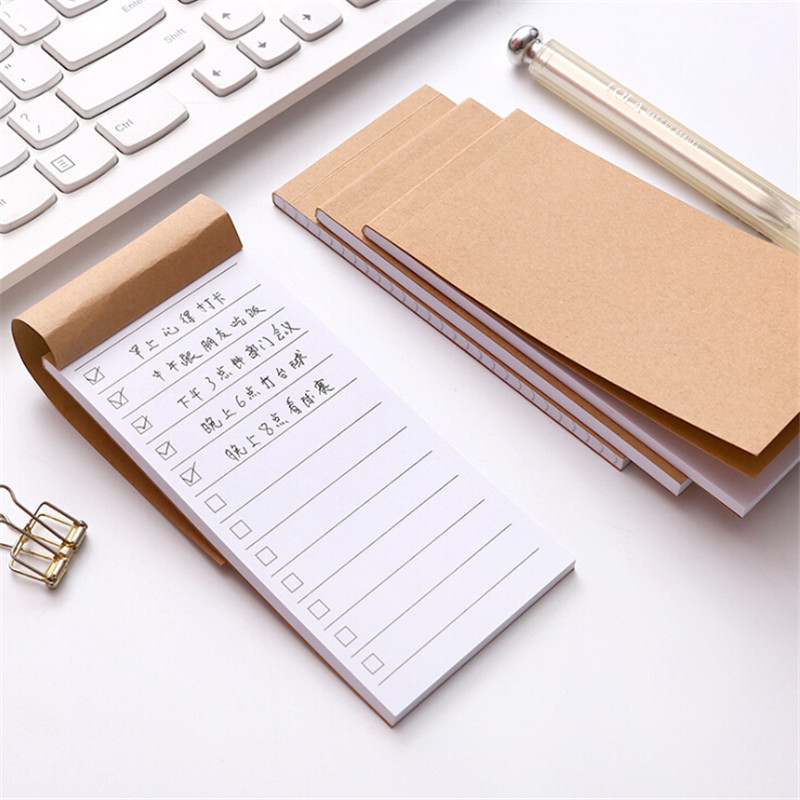 1pcs Pocket Kraft Paper Memo Pad Notepad Stationery Scrapbooking Memo Notes To Do List Tear Checklist Note Pad