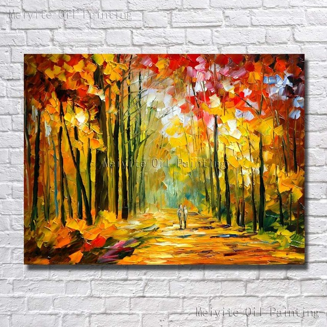 Hot Sell Palette Knife Modern Beautiful Scenery Canvas Oil Painting ...