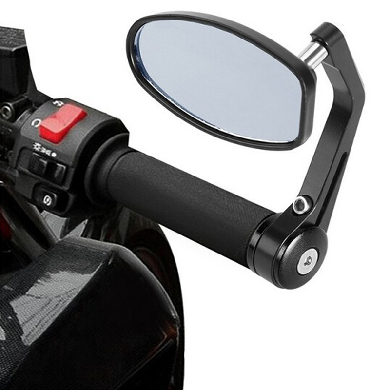 Motorcycle Mirror Aluminum Rear view Motor Mirror Motorcycle End Handerbar mirrors For Suzuki Bandit & Kawasaki z750(China (Mainland))