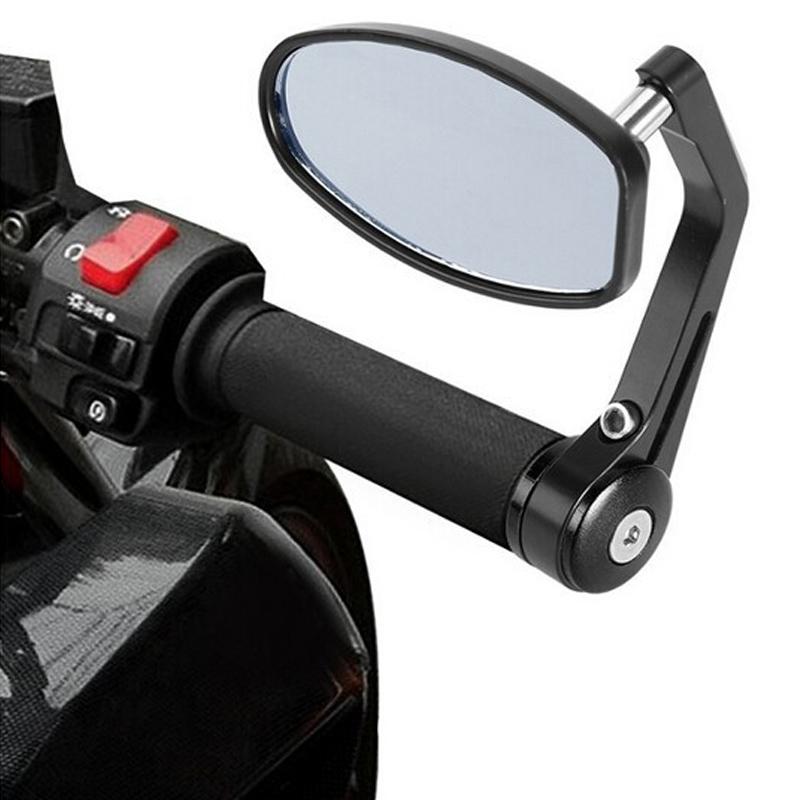 Prix pour Moto miroir en aluminium rétroviseur moteur miroir moto fin handerbar miroirs pour suzuki bandit & kawasaki z750