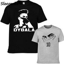 425a2d20b 2018 Short Sleeve Cotton T Shirts Man Clothing Paulo Dybala mask Custom Men  Tshirt Size XS