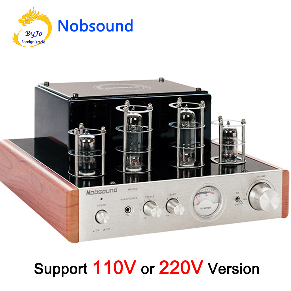 Nobsound MS 10D Tube Amplifier Audio Power Amplifier 25W 2 Vaccum amplifiers Support 110V or 220V