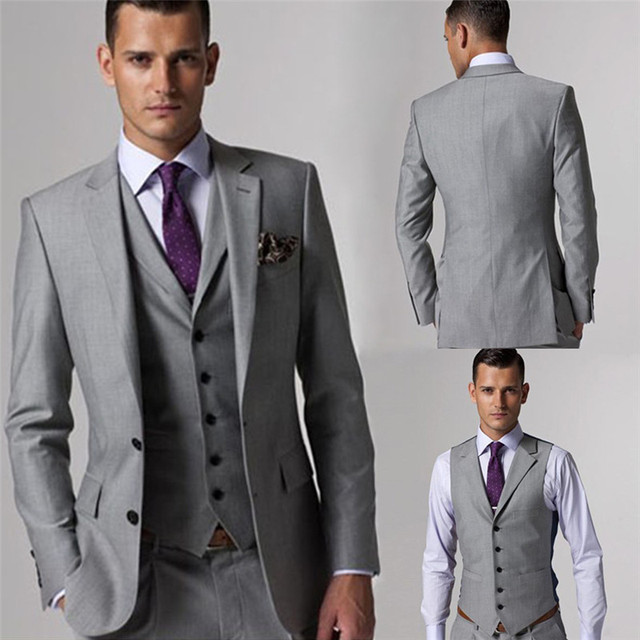 High Quality Wool Custom Made Slim Fit Male Tuxedo Formal Suits ...