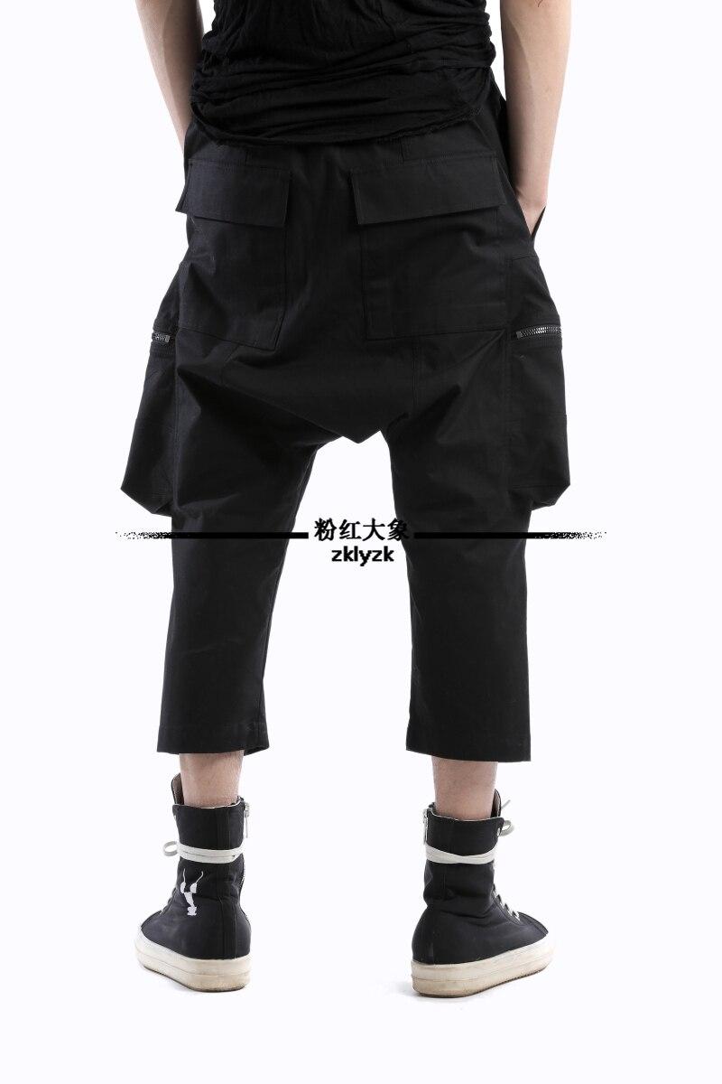 27 Côté Taille Gd Styliste Mode Capris Plus 2018 Personnalité Costumes Noir Pantalons Poche Hommes Cheveux Nouveaux Rue De Vêtements Harem 46 qzMGSUVp