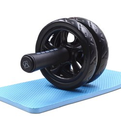 Abdominal wheel ab roller with mat no noise muscle double wheeled ab roller workouts abdominal fitness.jpg 250x250