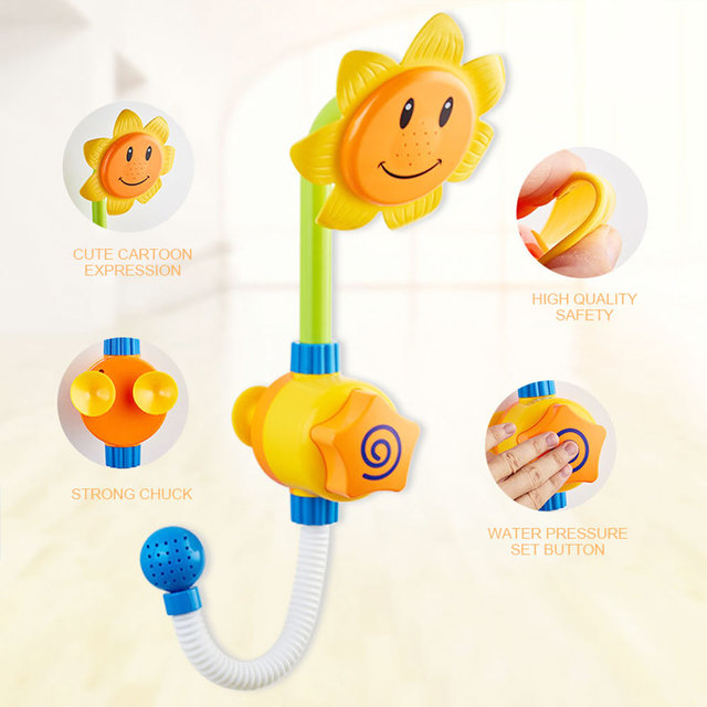 Cool Baby Bath Shower Faucet Toy