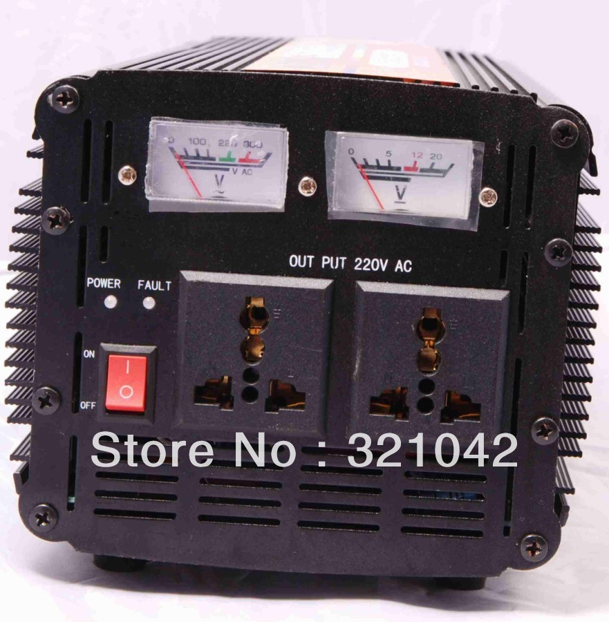 free shipping high-power inverter 3000W DC24V to AC220V modified wave UPS Inverter dhl fedex free shipping home ups inverter 3000w peak 6000w dc12v to ac220v inverter 20amp charger