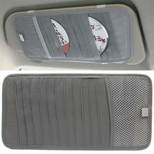 12 Slot Car CD Holder Auto Visor DVD Disk Card Case Clipper Bag Interior Organizer Cover stowing tidying Storage Bag