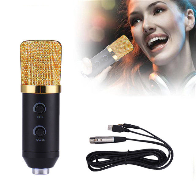 Wired Microphone Reverberation for Computer microfone Condensador Tripod Stander Wind Screen Pop Filter Nice Voice Network Live