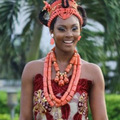 Dudo Fashion Bridal Jewelry Sets Acrylic Beads Shoulder Jewelry Orange / Red / Pink Long Necklace African Collar Style For Women