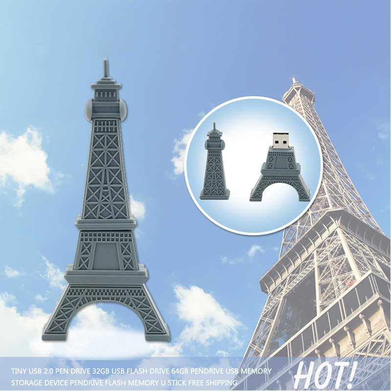 pendrive16gb  usb flash drive 4gb gray Paris Tour Eiffel 8gb 32gb 64gb pen drives flash usb memory Eiffel Tower usb flash memory