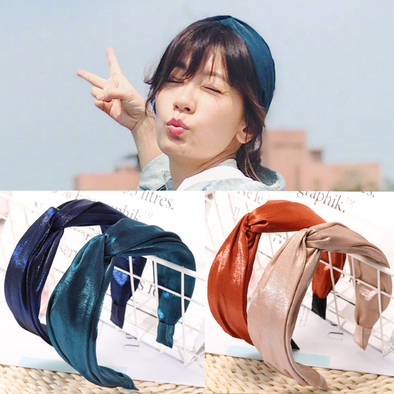 New Arrival Fashion Women Lovely Basic Cross Hairband Girl's Elegant College Style Headwear Lady's Glossy Hair Accessories