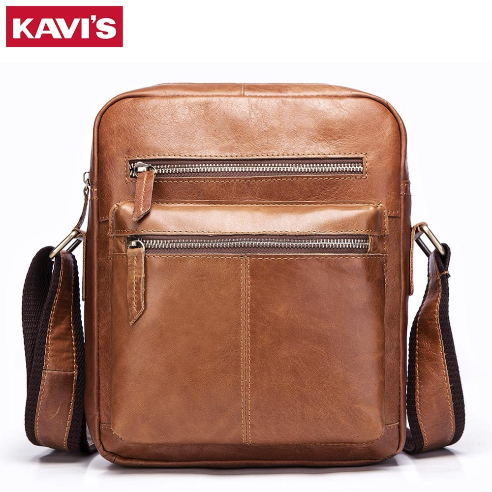 KAVIS Genuine Cow Leather Messenger Bags Flap England Style Men Solid Handbags Famous Brand Small Male Shoulder Crossbody Bags genuine cow leather messenger bags flap casual men solid handbags famous brand small male shoulder crossbody bags