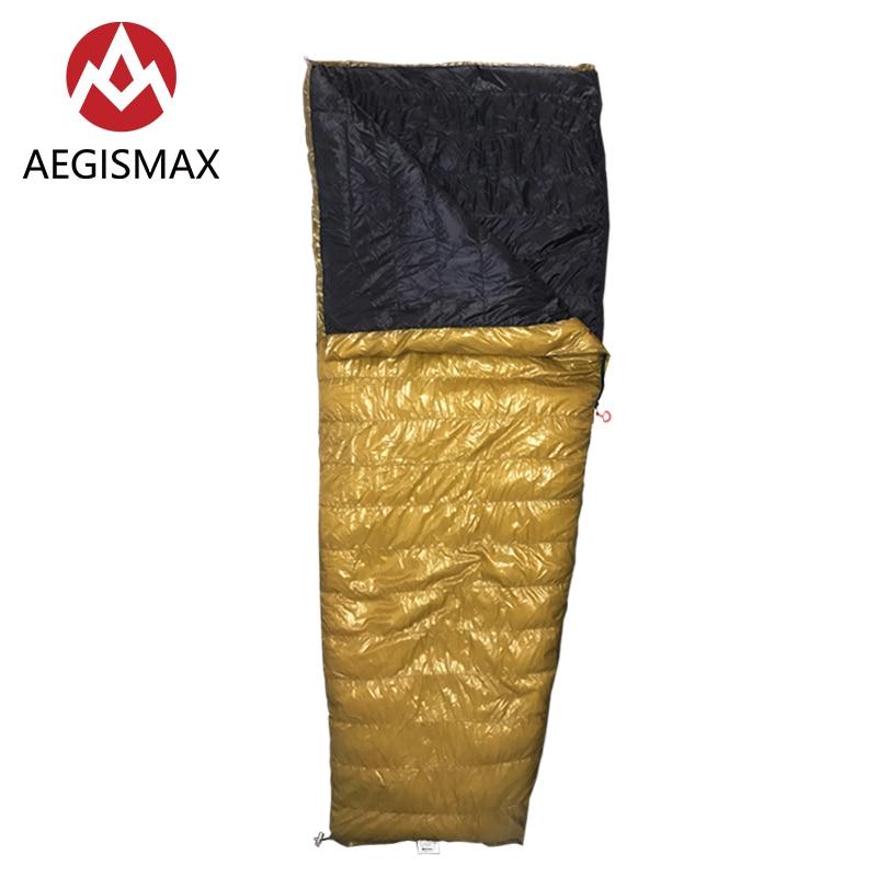 AEGISMAX Outdoor Camping LIGHT 800FP White Goose Down Envelope Three-Season Adult Nylon Sleeping Bag