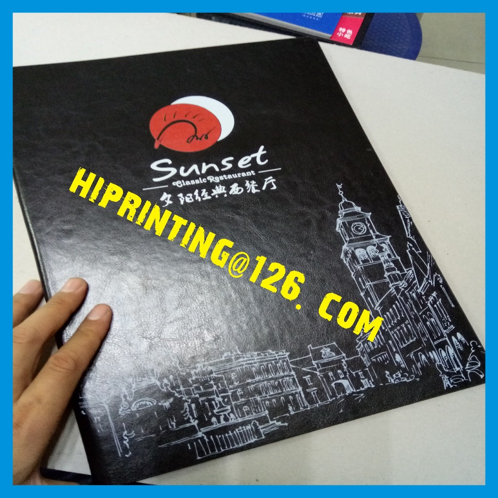 Customized paper printing high quality Menu Printing Training Catalog Brochure Printing Services beauty secrets catalog