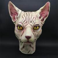 Halloween Canadian animals hairless Grim mask cats dance party funny mask terror fantasy game Latex hoods latex mask Unisex