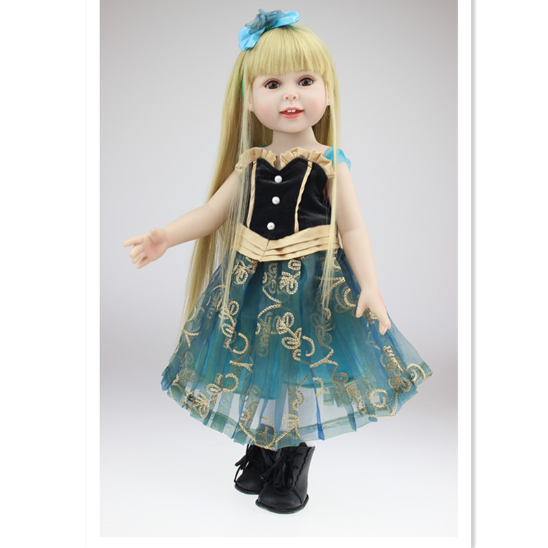 American Girl Doll Clothes Set for 18 Inch Dolls,Beautiful Dolls Dresses Outfit Set,Fashion 18 Inch Doll Clothes and Accessories 9 colors american girl doll dress 18 inch doll clothes and accessories dresses