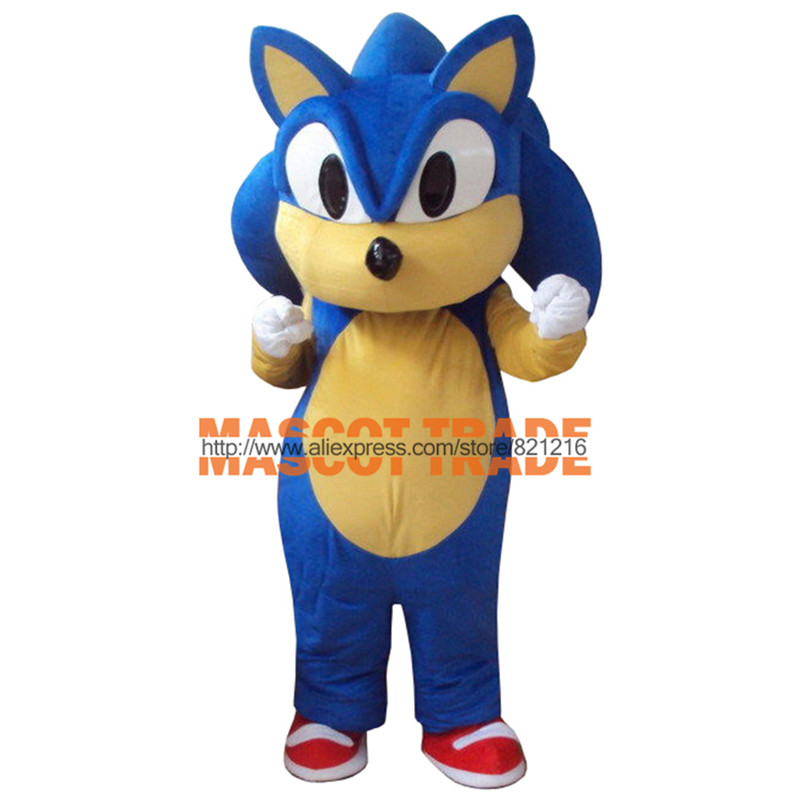 New Professional Sonic Hedgehog Mascot Costume Fancy Dress Adult Size