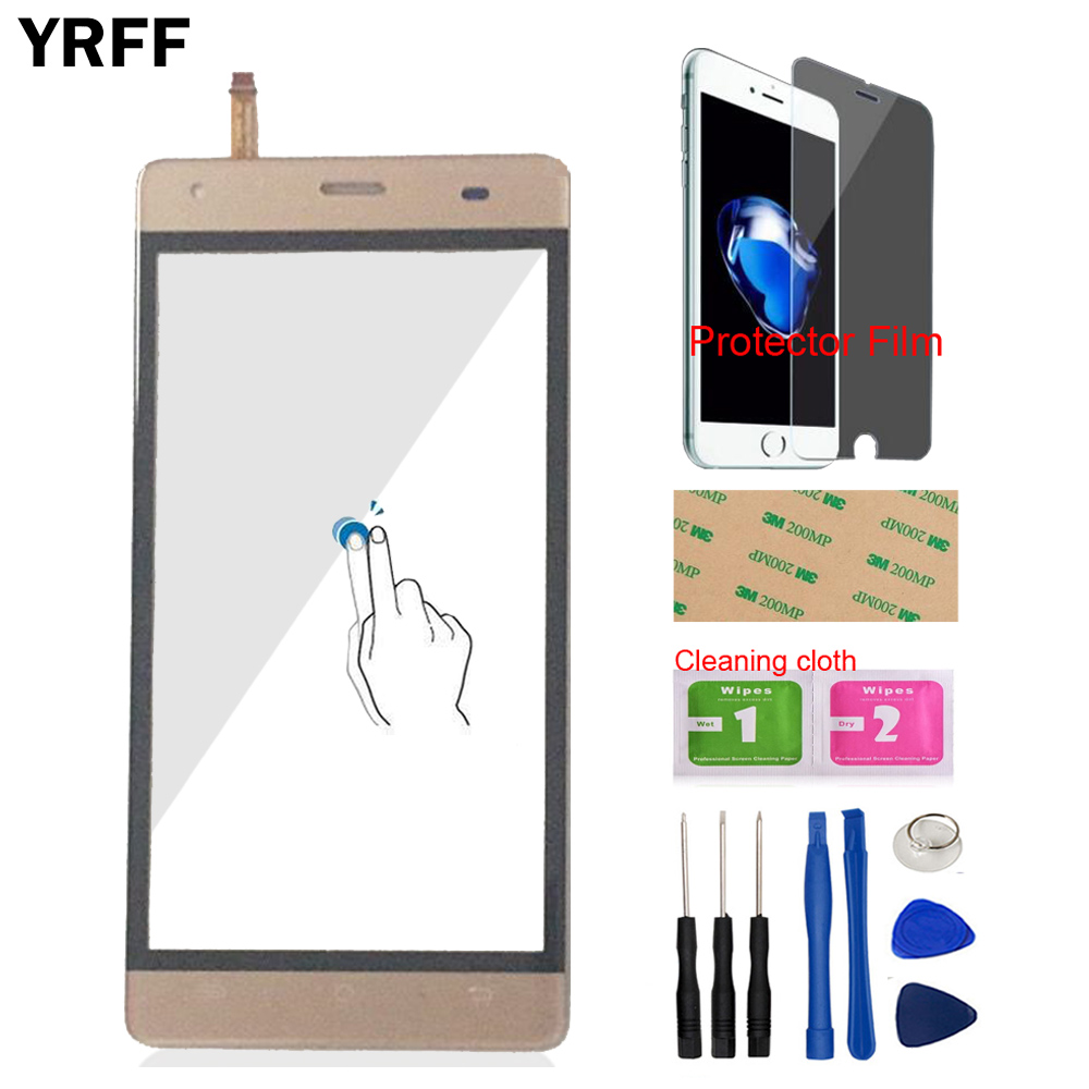 YRFF Mobile Phone Front Touch For Cubot Echo Touch Screen Digitizer Panel Glass Tools Sensor Protecotr Film + Adhesive