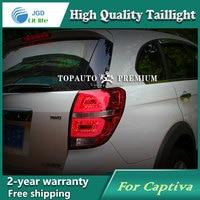 Car Styling Tail Lamp case for Chevrolet Captiva 2013 Tail Lights LED Tail Light Rear Lamp LED DRL+Brake+Park+Signal Stop Lamp