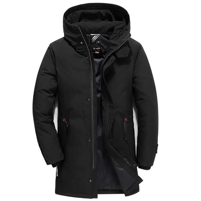 Loldeal Russian thick winter jacket down men's warm new fashionable brand clothes of the highest quality long down jackets for