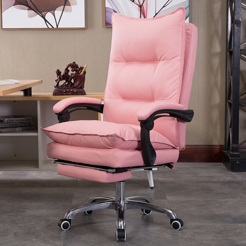 Special Home Computer Chair To Work In An Office Chair Can Lie Boss Chair Leather Noon Break Lift Chair Fashion Class Chair RU computer chair can lie lifting boss chair leather swivel chair