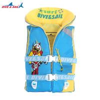 DIVE&SAIL Child Life Vest Jacket Boys Girls 210D Cloth+High Buoyancy Cotton Life Vest for Water skiing Swimming Drifting Surfing