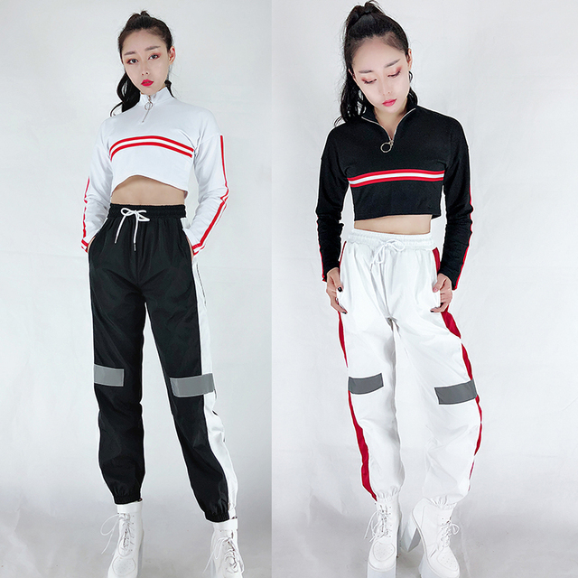 db60114ff 2019 Hip Hop Dance Costume Women Jazz Team Street Dancing Clothes Ladies  Nightclub Dj Ds Gogo
