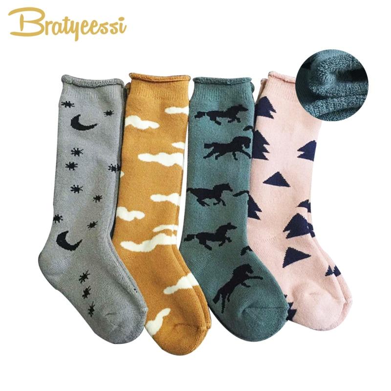 купить Print Cotton Winter Baby Socks for Girls Boys Thick Warm Kids Socks 1 Pair S/M for 0-4 Years по цене 186 рублей