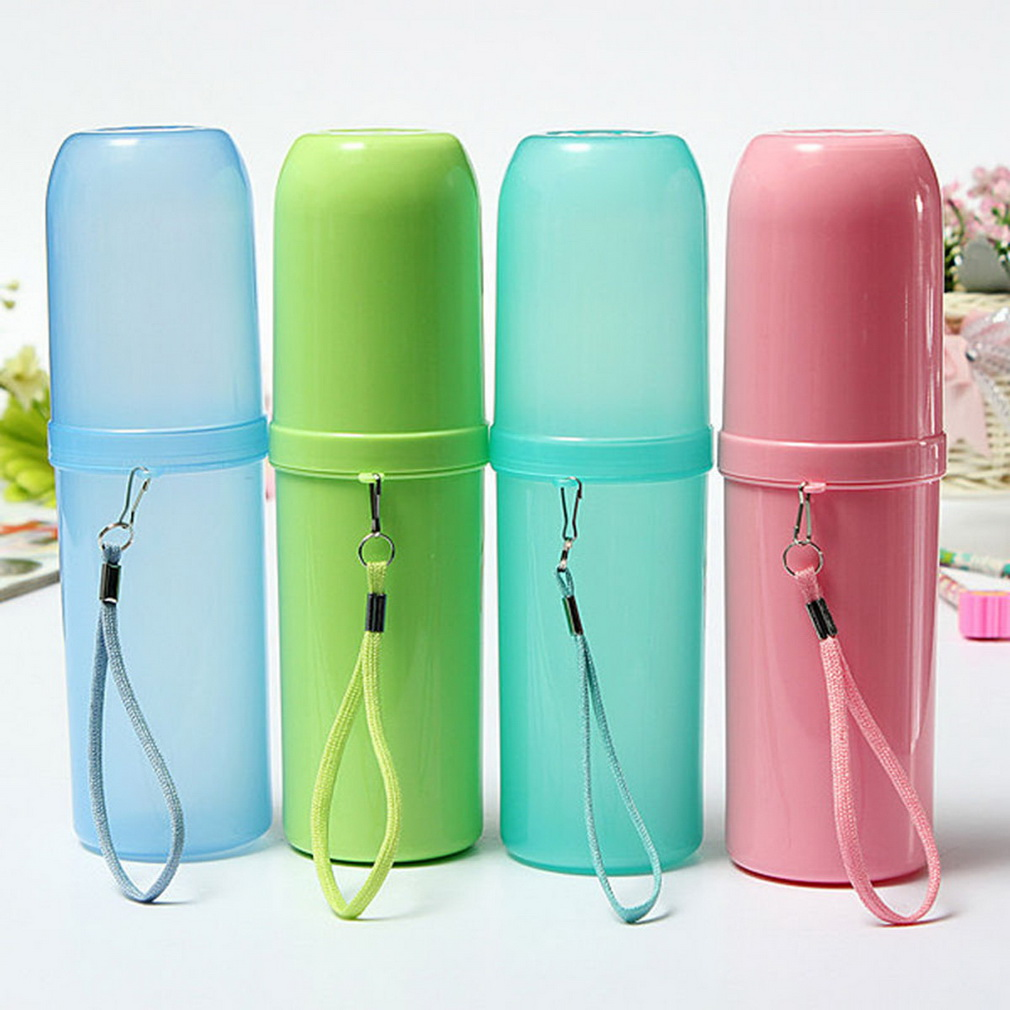 4 Colors Portable Utility Outdoor Travel Toothbrush Storage Box Holder Tooth Mug Toothpaste Towel Cup Organizer Bath Accessories