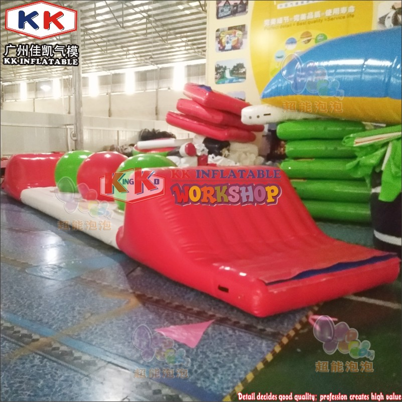 Adult Sea Water Use Inflatable Water Floating Obstacle Course / Water Park Games For Resort