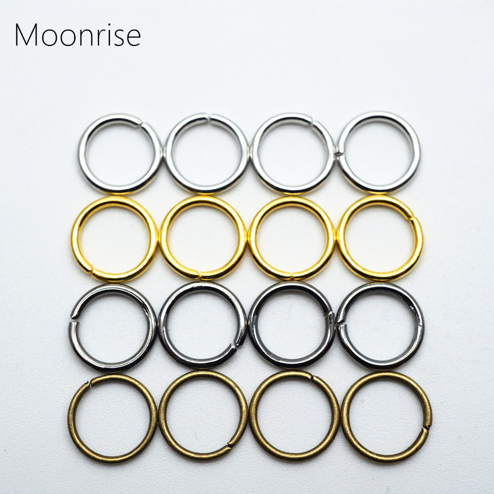 купить 200pcs 4-12mm Chain Maille Open Jump Ring Split Rings Connector For Jewelry Making DIY Metal Findings Jewelry Making HK002 по цене 41.31 рублей