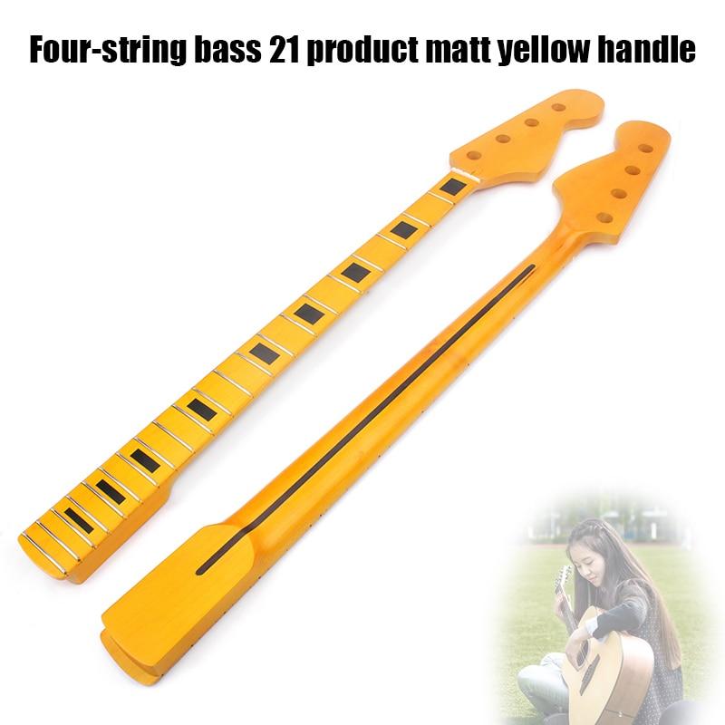 Nouvellement basse guitare cou 4 cordes 21 Fret en bois Instrument de musique accessoires de remplacement BFE88
