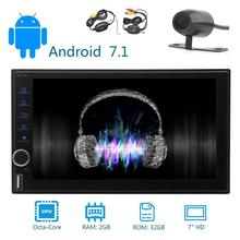 Android 7.1 Octa-core 2GB 32GB Car styling Radio 2 Din In Dash Car Stereo GPS Navigation Support AM FM WIFI APP Bluetooth Camera