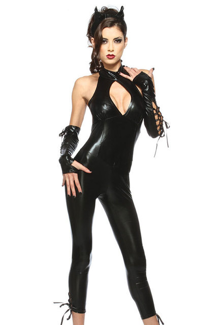 halloween costumes black panther costume lc8744 new 2015 sexy costumes for women fantasia leather teddies bodysuit