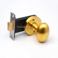 Luxury 2PCS European Oval Background Door Lock Interior Invisible Hidden Door Knobs Lock Living Room Bedroom Door Locks No Key