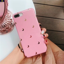 Cyato Plating Moon star Soft tpu Phone Cases For iPhone X case Silicone Cover coque 6 6s 7 8 Plus Glossy capa