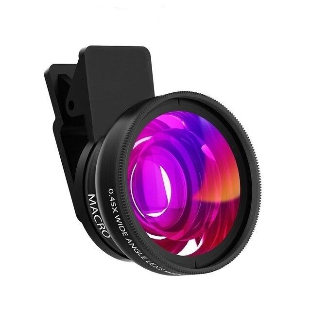 FULCOL Điện Thoại Di Động Lens 0.45x Siêu Wide Angle & 12.5x Siêu Ống Kính Macro HD Camera Lens Cho iPhone 7 8 X Huawei Xiaomi