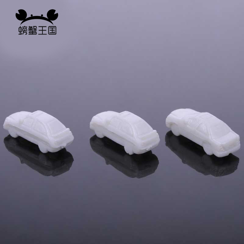 100pcs 1:250 Mini Scale ABS Plastic Model Car White Car For Architectural Model Making Train Layout