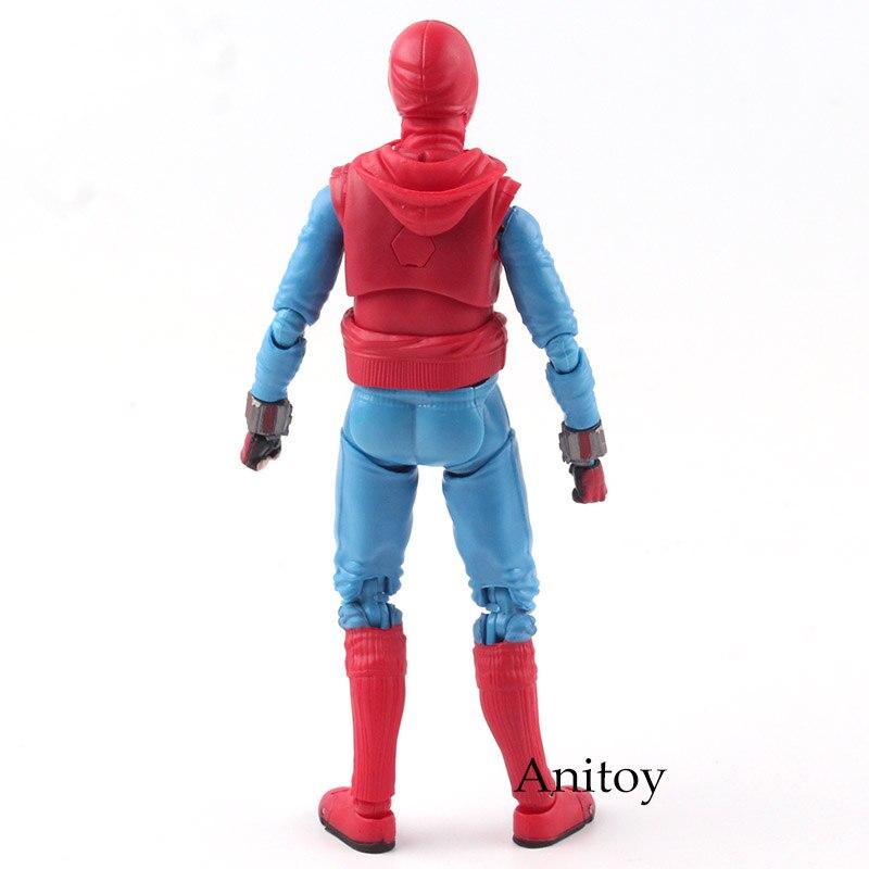 СВЧ S. H. Figuarts MARVEL Человек-паук фигурку выпускников Человек-паук домашний костюм Ver. ПВХ Коллекционная модель игрушки 14 см KT4800