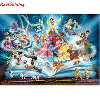 5D Diy Diamond Painting Cross Stitch full Square Diamond Embroidery cartoon characters picture for room Decor H1549