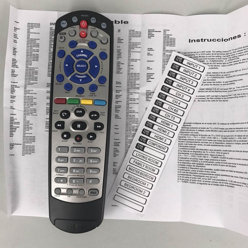 US $10 11 8% OFF New Replaced For DISH 20 1 For Dish Network IR Satellite  Receiver Remote Control-in Remote Controls from Consumer Electronics on