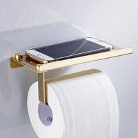 1 adet Paslanmaz Çelik Tuvalet Kağıdı Tutucu Telefon Standı Makale Depolama Rulo Kağıt Raf Havlu Askısı Çok Fonksiyonlu Banyo Ürünleri