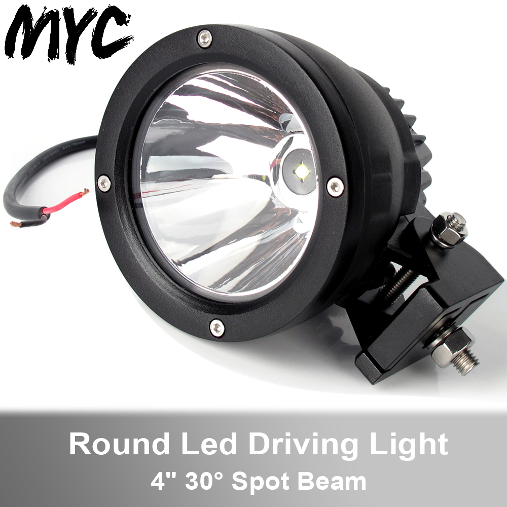 4 Inch 25W Spot Beam Led Work Light For Car 4x4 Off Road Truck Motorcycle Headlight Tractor ATV Traile Driving Lights
