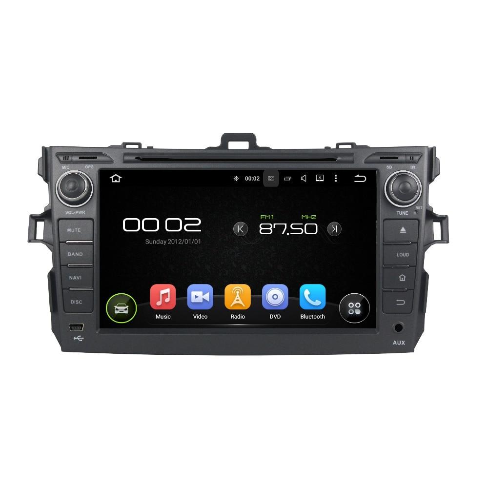 Octa Core 4GB RAM Android 8.0 Car DVD GPS Navigation Multimedia Player Car Stereo for Toyota COROLLA 2006-2011 Radio Headunit