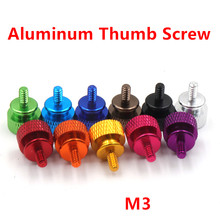 10pcs M3 Aluminum step thumb screw Computer case Screw Knurled Hand Screws anodized 11 colors