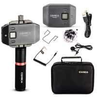 Comica CVM-WS50 (B) micrófono inalámbrico Lavalier UHF de 6 canales con mango para cámara DSLR Smartphone iPhone X 8 8 plus 7 6 6 s